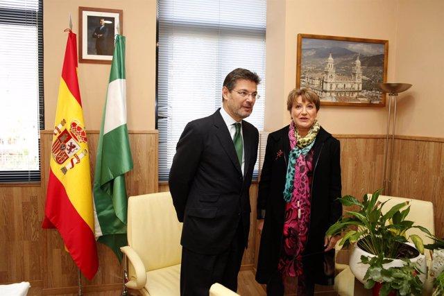 Catalá junto a la presidenta de la Audiencia Provincial, Lourdes Molina