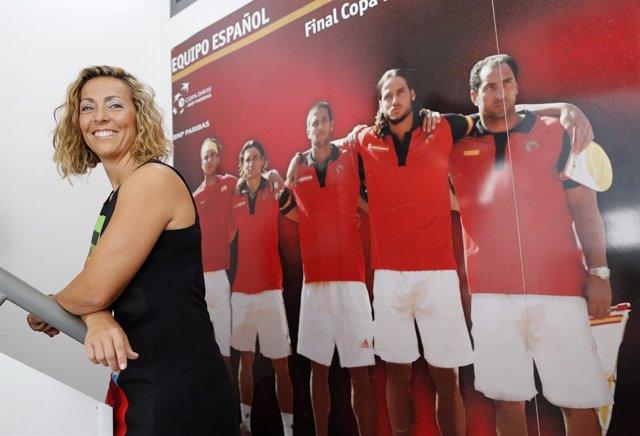 Gala León, capitana española de Copa Davis
