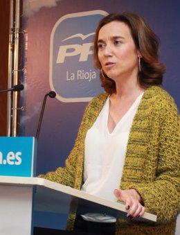 Cuca Gamarra, candidata PP al Ayuntamiento de Logroño