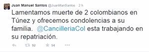 Muerte colombianos Túnez