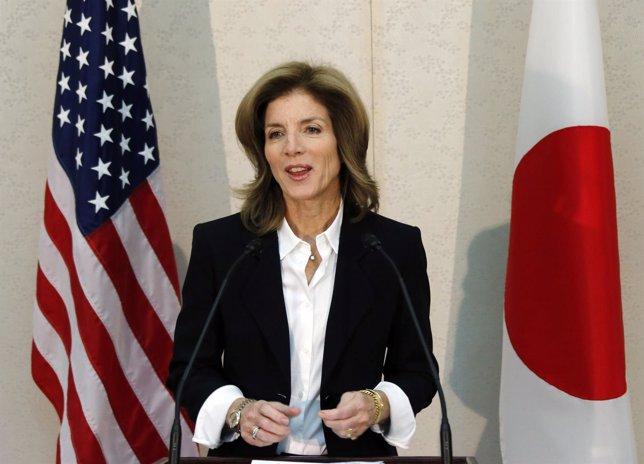 La embajadora de Estados Unidos en Japón Caroline Kennedy