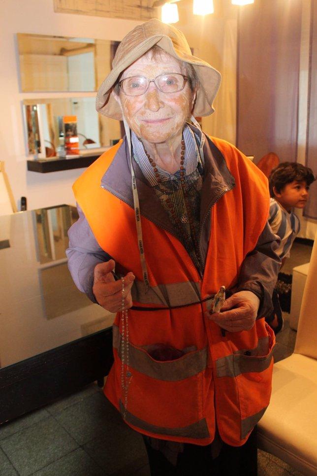 La 'abuela peregrina' recorre 1.200 kilómetros por la paz en Argentina
