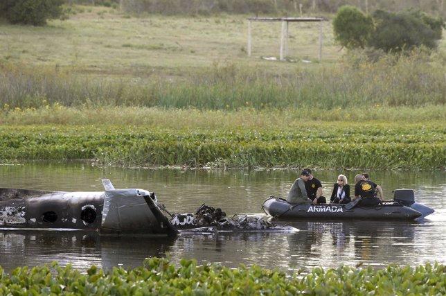 Accidente de avión en Uruguay