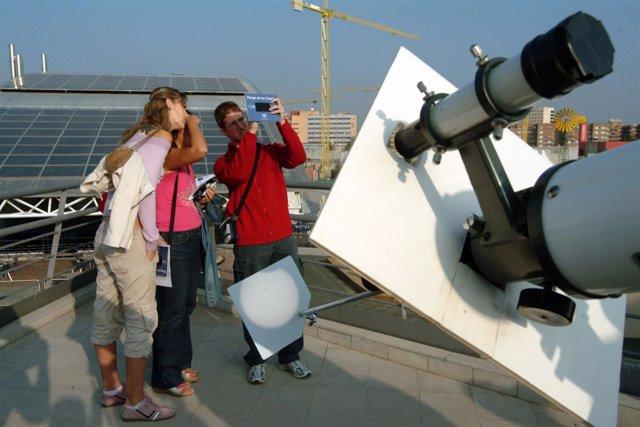 Observación de eclipse