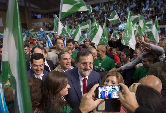 Mariano Rajoy y Juan Manuel Moreno