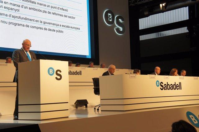 Junta de accionistas del Banco Sabadell