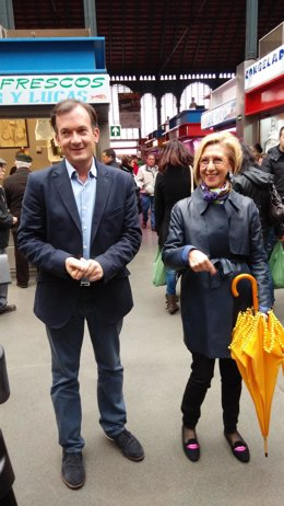 Martín de la Herrán y Rosa díez campaña electoral 22M