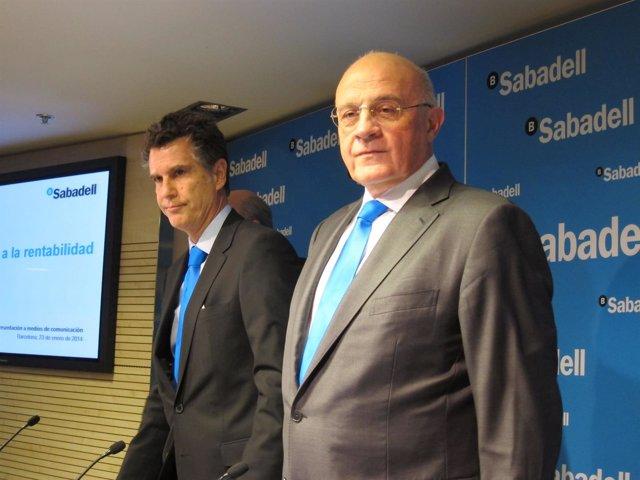 Jaume Guardiola y Josep Oliu (Banco Sabadell)