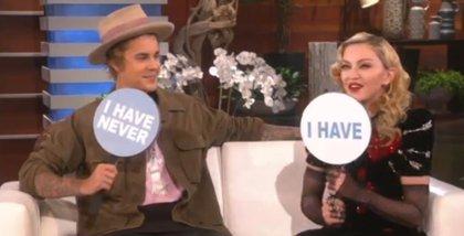 Madonna y Justin Bieber juegan al 'Yo Nunca' en The Ellen DeGeneres Show