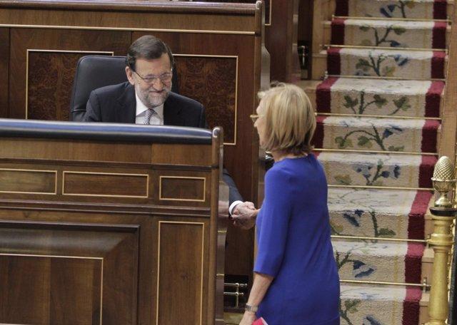 Mariano Rajoy y Rosa Díez