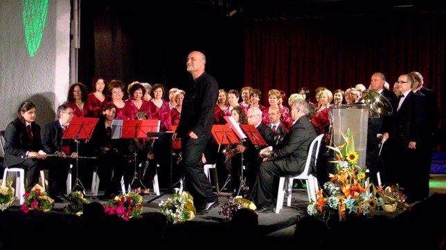 Coral de Fraga en concierto.