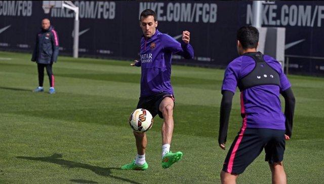 Sergio Busquets Barcelona entrenamiento