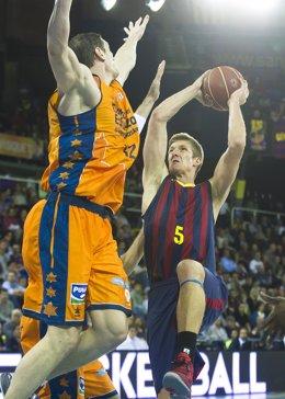 Doellman en el Barcelona - Valencia Basket