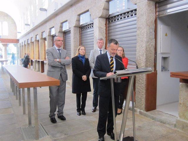 Inauguración de la Plaza de Abastos en Santiago de Compostela