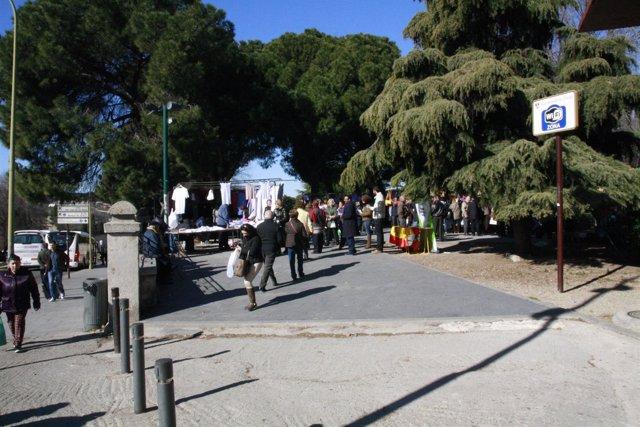 Paseo de la vega, Mercadillo, Mercado, Personas caminando