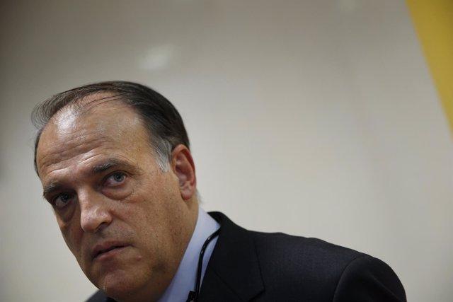 El presidente de la LFP, Javier Tebas
