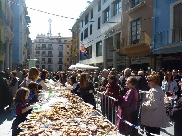 Fiesta del Crespillo celebrada en 2014 en Barbastro