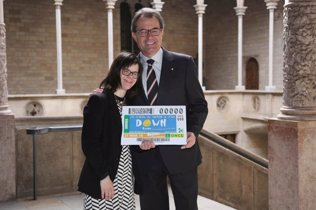 Artur Mas con Anna Vives