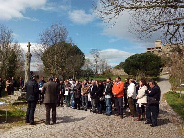 Acto en las inmediaciones del Castillo de Monterrei, en Ourense