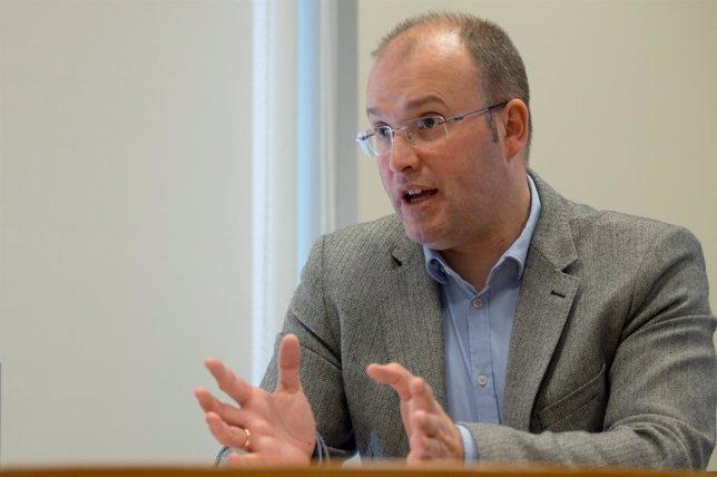 El portavoz del PPdeG, Miguel Tellado, en la entrevista concedida a Europa Press