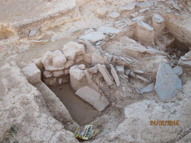 Uno de los megalitos hallados.