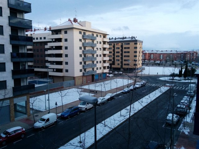 Nieve en Logroño