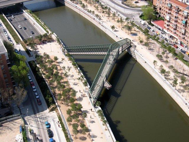 Puente En 'Y' En Madrid Río
