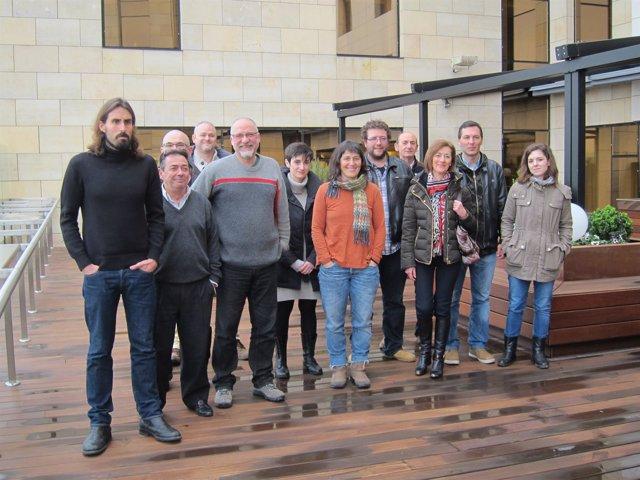 Juanma Brun y miembros de Si se puede (Podemos)