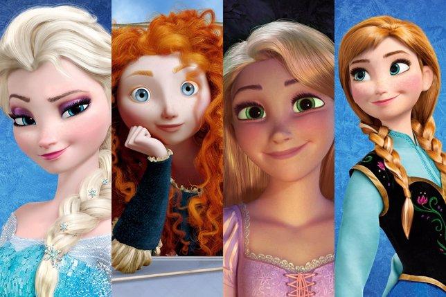 Elsa, Anna, Brave y Rapunzel