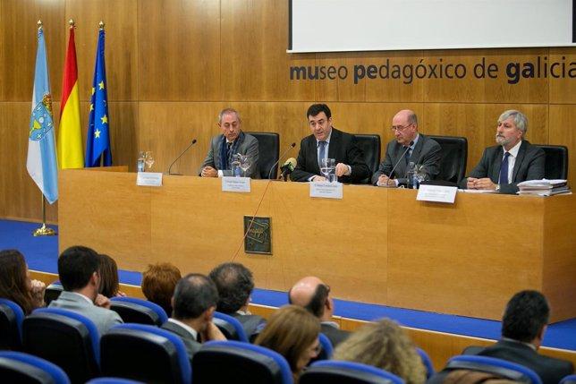 O conselleiro de Cultura, Educación e Ordenación Universitaria, Román Rodríguez,
