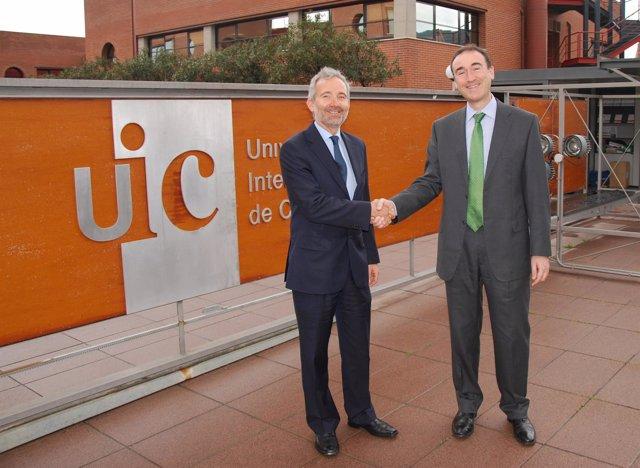 Jaume Armengou (UIC) y Enrique Serrano (MB)