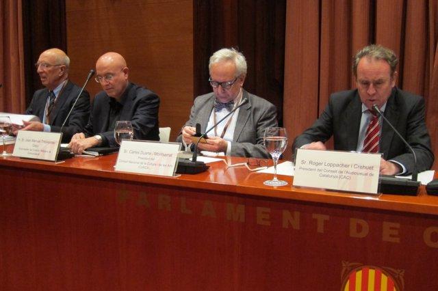 R.Torrent (UB), J.M. Tresserras, C.Duarte (CoNCA) y R.Loppacher (CAC)