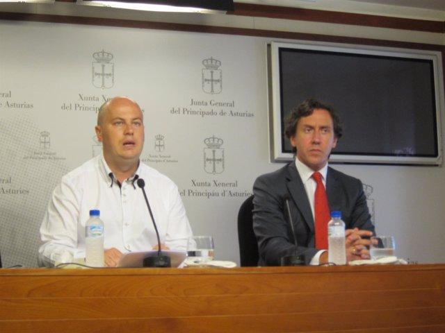 José Ramón Campo y Albano Longo, diputados de Foro Asturias.