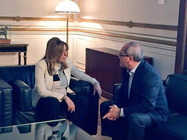 Susana Díaz y Juan Cornejo reunidos en San Telmo