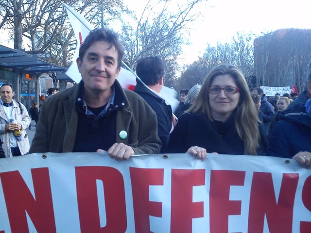Luis García Montero y Raquel López