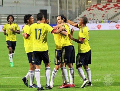 Colombia golea 6-0 a Bahréin con doblete de Falcao