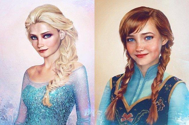 Anna y Elsa de 'Frozen' en la vida real
