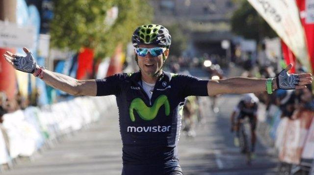 El ciclista español de Movistar Alejandro Valverde
