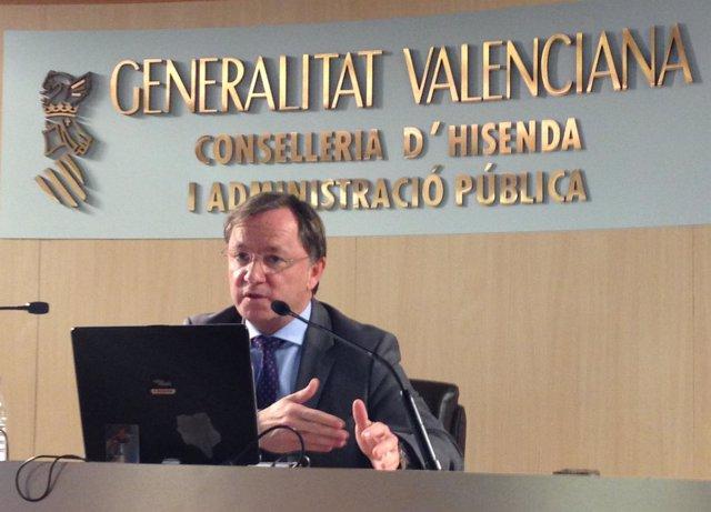 El Conseller De Hacienda Y Administración Pública, Juan Carlos Moragues.