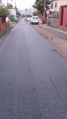 Obras en la carretera de Las Mercedes