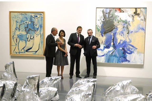 Fleur Pellerin, De la Torre, Rajoy y Seban apertura centre pompidou málaga