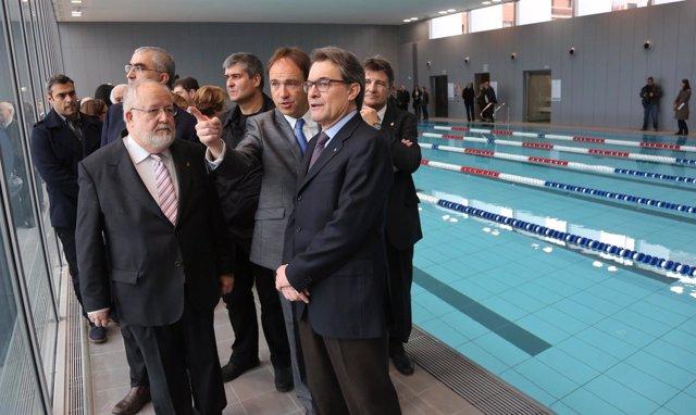 El pte.Artur Mas y el de la Diputación de Barcelona S.Esteve