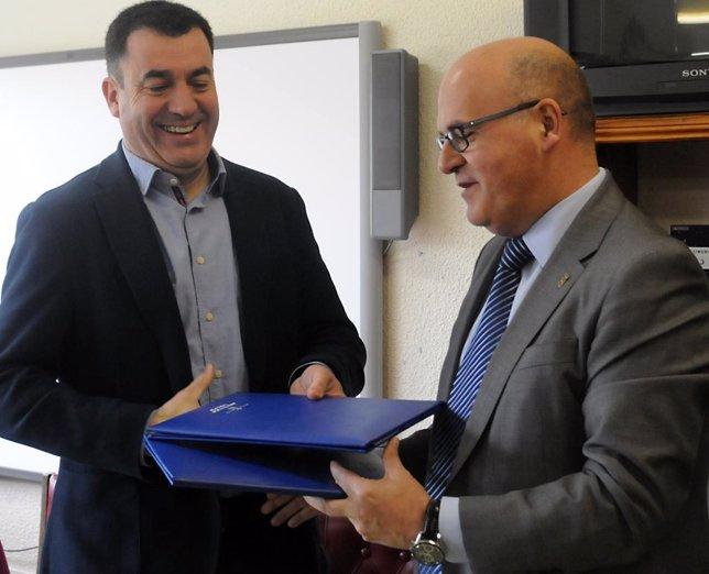 El conselleiro de Educación y el presidente de la Diputación de Ourense