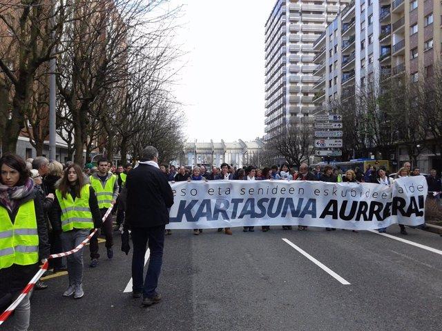 Manifestación por los presos en San Sebastián