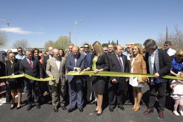 Inauguración de la nueva carretera de acceso a La Zubia