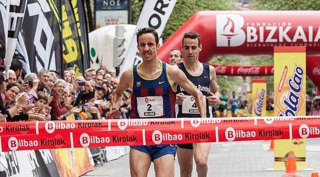 Manuel Olmedo, campeón de la X Milla de Bilbao