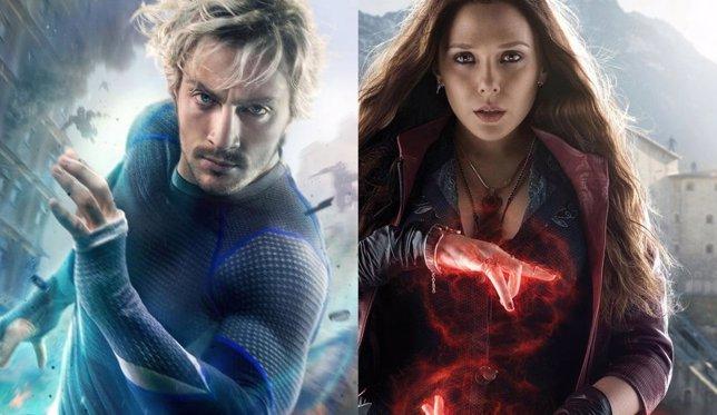 Quicksilver y la Bruja Escarlata en Los Vengadores: La era de Ultrón
