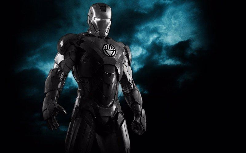 La armadura negra de Iron Man en Vengadores: La era de Ultrón