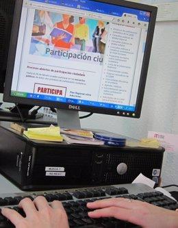 Ordenador, participación ciudadana, oficina