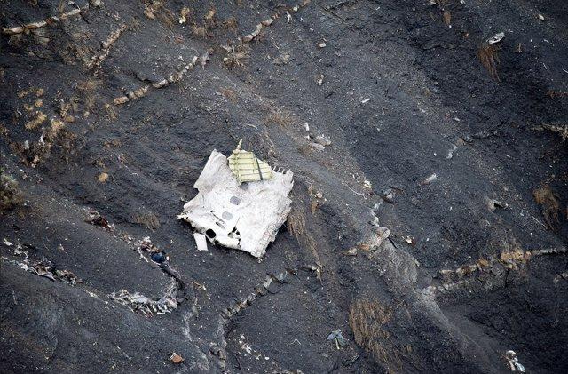 Restos del avión accidentado de Germanwings